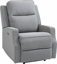 HOMCOM Linen-Look Electric Recliner Armchair