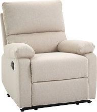 HOMCOM Linen Manual Reclining Armchair Sofa Lounge
