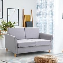 HOMCOM Linen Upholstery Double Seat Sofa Compact