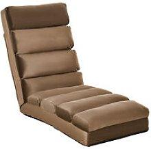 HOMCOM Lounge Sofa Bed Folding Adjustable Floor