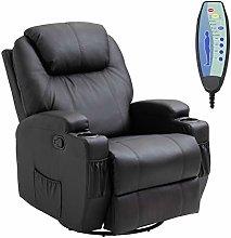 HOMCOM Luxury Leather Recliner Sofa Chair Armchair