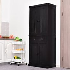 HOMCOM MDF Storage Cabinet Freestanding Tall