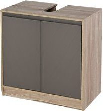 HOMCOM MDF Under-Sink Bathroom Cabinet Shelves Grey