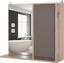 HOMCOM MDF Wall Mounted Bathroom Cabinet w/ Mirror
