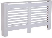 HOMCOM MDF White Painted Radiator Cover Slatted