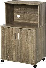 HOMCOM Mini Moving Kitchen Storage Cabinet w/