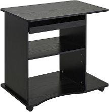 HOMCOM Mobile Small Office Computer Desk PC Table