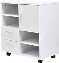 HOMCOM Mobile Storage Cabinet Sideboard Cupboard