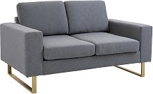 HOMCOM Modern Double Seat Sofa Compact Loveseat
