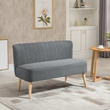 HOMCOM Modern Double Seat Sofa Loveseat Couch 2