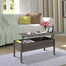 HOMCOM Modern Lift Top Coffee Table Convertible