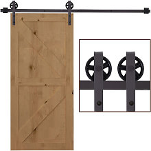 HOMCOM Modern Sliding Barn Door Closet Hardware