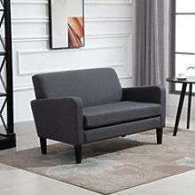 HOMCOM Modern Two Seater Loveseat Upholstery