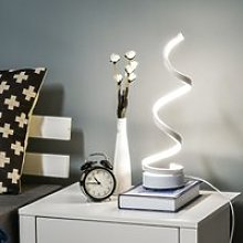 HOMCOM Modern Wave-Shaped LED Table Lamp with