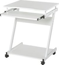 HOMCOM Movable Computer Desk with 4 Moving Wheels