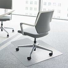 Homcom Office Carpet Protector Chair Mat Clear Spike Non Slip Chairmat Frosted Lipped