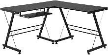 HOMCOM Office Home Gaming Desk Table L Shape