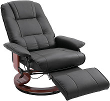HOMCOM Office Recliner Sofa Chair Plush Armchair