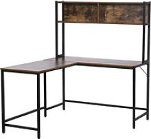 HOMCOM Particle Board Industrial L-Shaped Desk w