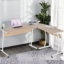 HOMCOM Particle Board L-Shaped Home Office Desk