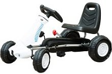 HOMCOM Pedal Go Kart Toy for Kids with Rubber