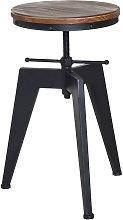 HOMCOM Pine Wood Steel Bar stool Swivel Chair