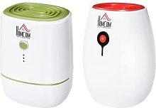 HomCom Portable Dehumidifier: Red