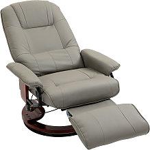 HOMCOM PU Leather Ergonomic Office Recliner Sofa