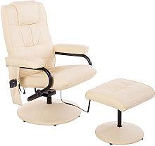 HOMCOM PU Leather Manual Massage Sofa Reclining