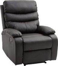 HOMCOM PU Leather Manual Recliner Armchair