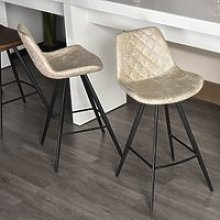 HOMCOM PU Leather Upholstered Twin - Pair Kitchen