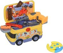HOMCOM R/C Tools Bus Toy Tool Set for Kids and