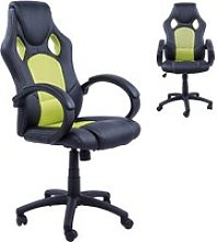 HOMCOM Racing Chair Gaming Sports Swivel Desk