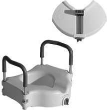 HOMCOM Raised Elevated Toilet Seat W/ Lock and