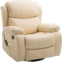 HOMCOM Recliner Massage Chair, W/ Heating, PU Leather-Beige