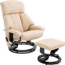 HOMCOM Recliner Sofa Electric Massage Chair Sofa