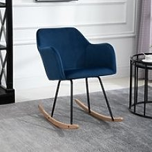 HOMCOM Rocking Armchair, Accent Lounge Chair with