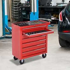 HOMCOM Roller Tool Cabinet Storage Chest Box 7