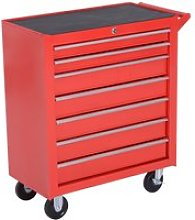 HOMCOM Roller Tool Cabinet Storage Chest Box 7