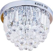HOMCOM Round Crystal Lamp Chandelier Ceiling Mount