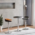 HOMCOM Round Height Adjustable Pub Table Counter
