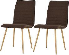 HOMCOM Set of 2 Armless Dining Chairs Metal Frame