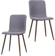 HOMCOM Set of 2 Dining Chairs High Back Padded