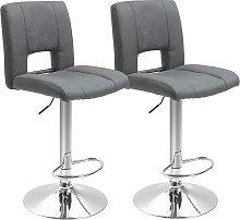 HOMCOM Set Of 2 Modern Linen Fabric Bar stool
