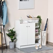HOMCOM Shoe Storage Cabinet Home Hallway Furniture