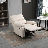 HOMCOM Single Recliner Sofa Lounge Linen Fabric