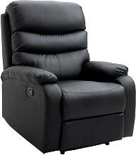 HOMCOM Single Recliner Sofa PU Leather Armchair