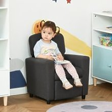 HOMCOM Single Seater Kids Sofa Chair with Footrest