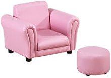 HOMCOM Single Seater Kids Sofa Set Children Couch