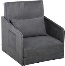 HOMCOM Single Sofa Bed Armchair Soft Floor Sleeper